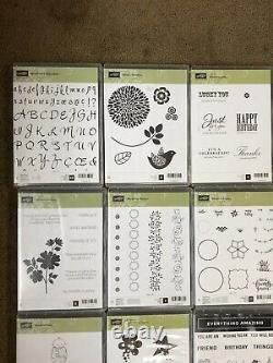 Lot of 20 Assorted Stampin' Up Sets Unmounted 215 Rubber Stamps Cling New & Used