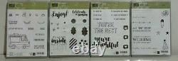 Lot of 20 Stampin Up Stamp Sets Kind Thoughts & Words Stamps StampinUp FREE SHIP
