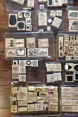 Lot of 216 Stampin' Up Stamps. All Listed. 23 Total Sets Good Variety