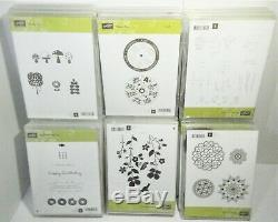 Lot of 22 Stampin Up Clear Mount or Photopolymer Stamp Sets (154 Stamps Total)