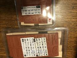 Lot of (29) SETS Stampin' Up Stamp Sets Wooden Rubber Stamps 100s Of Stamps