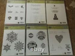 Lot of 39 Stampin' Up! Stamp Sets Mostly Unused
