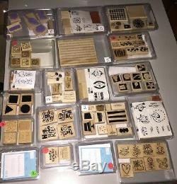 Lot of 43 Stampin Up Stamp Sets 280 Different Stamps Christmas, Baby, Bday