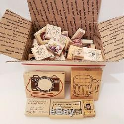 Lot of 59 Stampin Up! Used Stamp Sets Arts and Crafts Funny Thank you Birthday