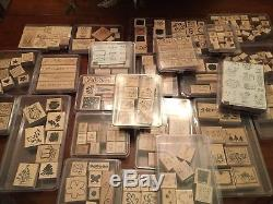 Lot of 61 STAMPIN UP STAMP SETS Rubber/Wood from 2003-05 Timeframe