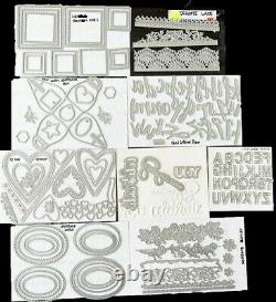Lot of 9 RETIRED Stampin' Up! Die Sets