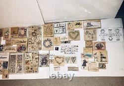 Lot of Over 100 STAMPIN' UP STAMP SETS NewithUsed Rubber Wood Holidays Expensive