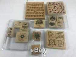 Lot of Wooden Rubber Stamps and Sets Mostly Stampin' Up Over 150 Stamps