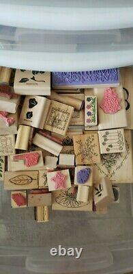 Lot of over 500 Stampin Up stamp sets and Accessories