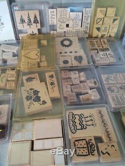 Massive Stampin Up Wood Stamp Set Lot Bundle