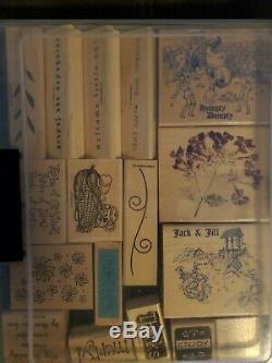 Massive Stampin Up Wood Stamp Set Lot Bundle. Over 130 stamps
