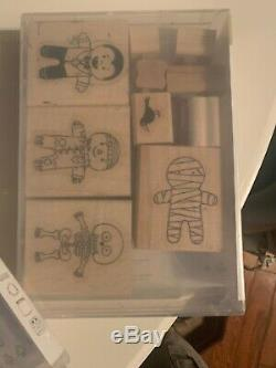 Mixed Lot Stampin Up HolidayStamp Sets Retired, New & Used Halloween. See List