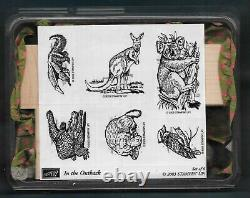NEW AUSTRALIA IN THE OUTBACK SET Nature ANIMAL WILDLIFE Stampin Up! RUBBER STAMP