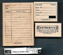 NEW STAMP OF AUTHENTICITY LIBRARY Business Ticket Set Stampin' Up! Rubber Stamps