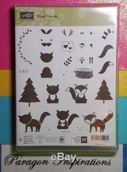 NEW Stampin Up FOXY FRIENDS Stamp Set & FOX Punch + Dies By Dave Bundle Lot