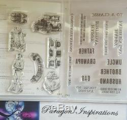 NEW Stampin Up GUY GREETINGS & COMPLETE SET of 5 Dies by Dave Father's Day Lot