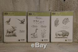 NEW Stampin Up! IN WILDERNESS WETLANDS WALK IN THE WILD Stamp Sets RETIRED