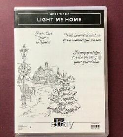NEW Stampin Up! LIGHT ME HOME Rubber Cling Stamp Set 4 Pieces RETIRED RARE NIP