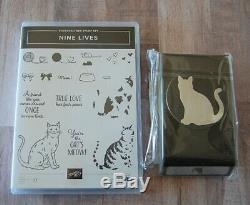 NEW! Stampin' Up! NINE LIVES Stamp Set & Coordinating CAT PUNCH