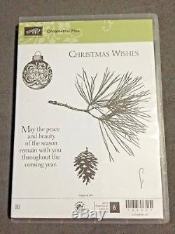 NEW Stampin Up ORNAMENTAL PINE stamp set + Dies by Dave Christmas pine cone