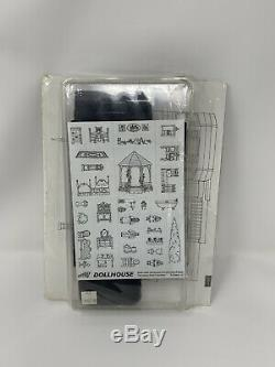 NEW Vintage 1994 STAMPIN' UP! DOLLHOUSE Victorian Stamp Set Wood Mounted