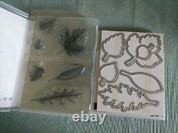 New FALL Stampin' Up! Vintage Leaves Photopolymer Stamp Set & Leaflets Framelits