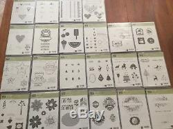 New Stampin' Up! Huge Lot of 22 Stamp Sets Holidays Free Shipping
