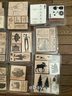 New Stampin Up Wooden Stamps 22 sets Most Have Never Been Used