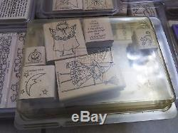 New and Few Used Mixed Lot of Stampin Up Rubber Stamp 28 Sets 232 Total Stamps