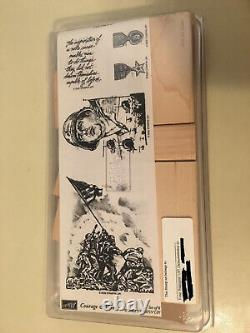 RARE COURAGE & HONOR SET Military Veteran Pride Stampin' Up! Rubber Stamps NEW