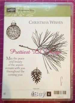 RETIRED Stampin Up Stamp Sets Christmas Holiday Snowflake Ornaments Seasonal
