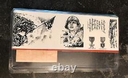 Rare New Courage & Honor Military Veteran Stampin' Up! Red Rubber Stamps Set