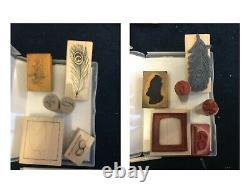 Rubber Stamp Lot 4 Stamp Sets, 5 Accessory Sets, 20 Single Stamps, Ink Pads