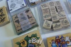 Rubber Stamp Sets Stampin' Up Anna Griffin etc LOT