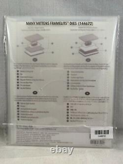 SMITTEN MITTENS Stamp Set & MANY MITTENS Framelits By Stampin Up New Winter