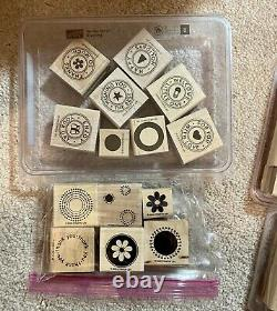 STAMPIN' UP! 40 rubber stamp sets over 225 stamps 3 new unmounted