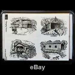 STAMPIN UP Changing Seasons Covered Bridges STAMPS SET New England FREE USA SHIP
