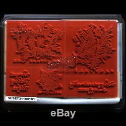 STAMPIN UP Christmas Cardinal Bird STAMPS SET Rare Warmest Holiday Wishes Peace