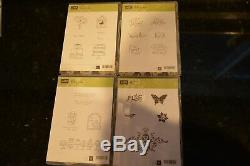 STAMPIN' UP! Clear Acrylic Blocks Set 9 Storage Caddy 10 Used/Unused stamp sets