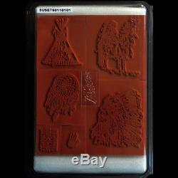 STAMPIN UP Dream Catcher STAMPS SET NEW Rare UM Tribal Indian Chief
