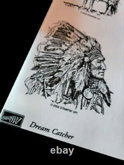 STAMPIN UP Dream Catcher STAMPS SET RETIRED Indian Chief Horse