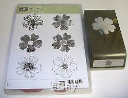 Stampin up flower shop cling mount rubber stamp set with paper punch mightylinksfo