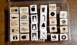 STAMPIN UP! Holiday Blitz 27 mini stamps Retired set from 2007