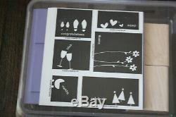 STAMPIN UP Large LOT Set 183 Wood Stamps in 23 Packs UNMOUNTED Never Used