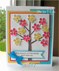 STAMPIN UP SEASON OF FRIENDSHIP Tree Used Wood Mount Rubber 6 Stamp Set