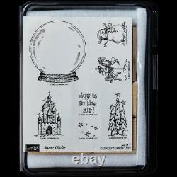 STAMPIN UP Snow Globe STAMPS SET Christmas Trees Horse Snowman Fairy Castle Joy