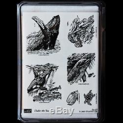 STAMPIN UP Under the Sea STAMPS SET Rare Humpback Whale Orca Dolphin Fish Turtle