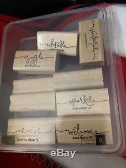 STAMPIN' UP! WARM WORDS Set of 8, Used, Cherish, sparkle, Be Merry