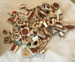 Set Of Hundreds Of Stampin Up Stamps Ink Dies Cut Outs 400-500 Pieces