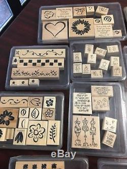 Stamp Sets (Stampin up And Misc). New & Used Rubber On Wood Block